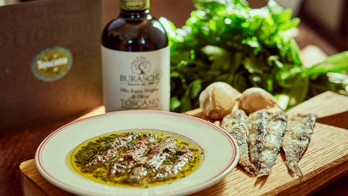 ANCHOVIES WITH CHOPPED PARSLEY AND CAPERS